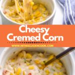 cremed corn served in the bowl